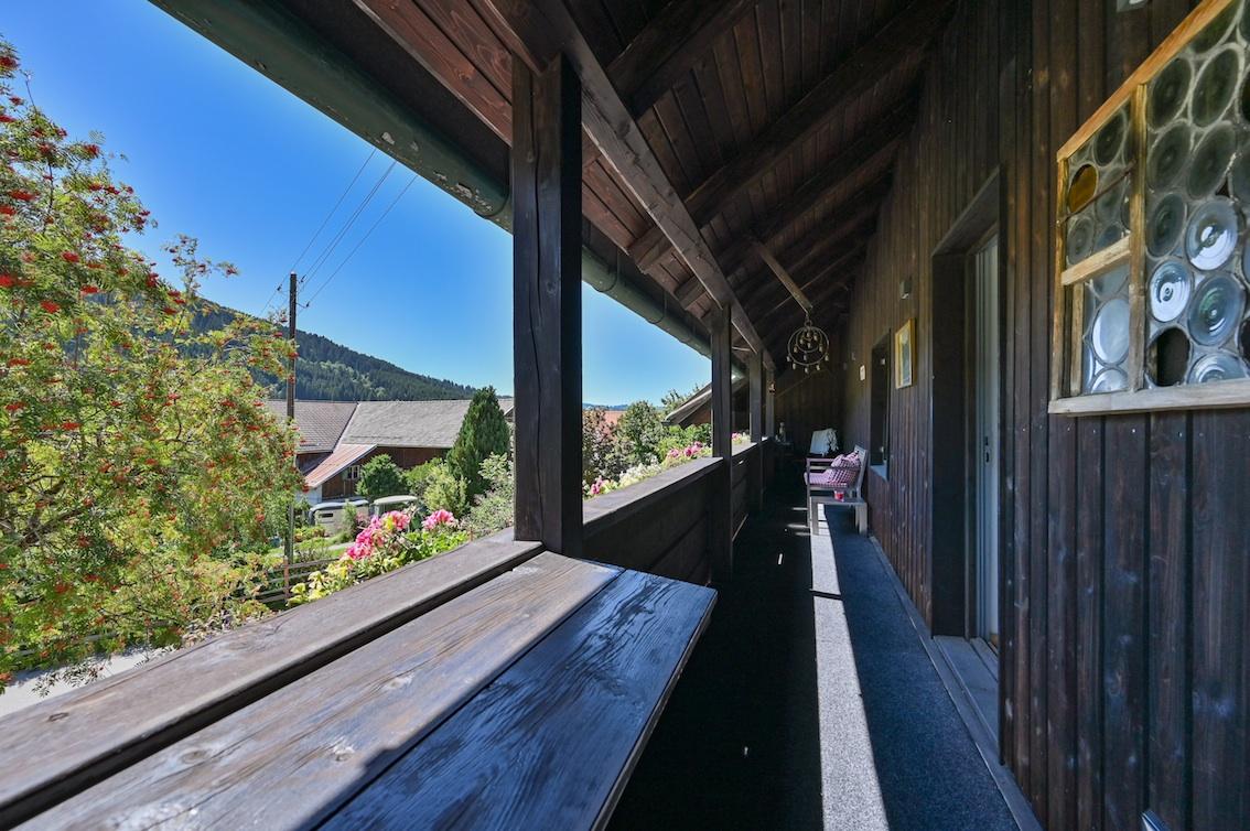 Balkon der Ferienwohnung Anderl