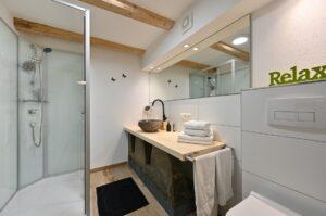 Badezimmer in der Ferienwohnung Traudl